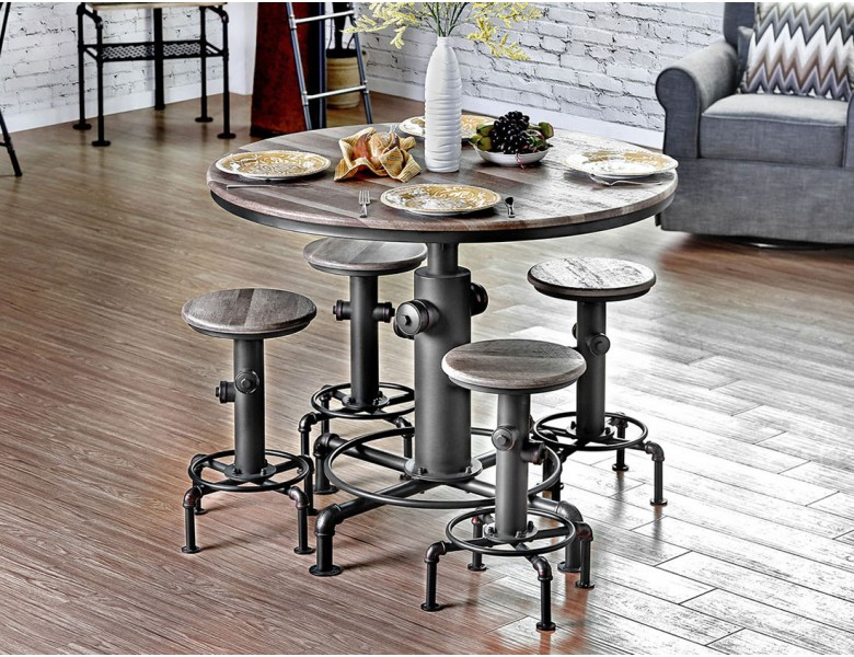Fire Hydrant Industrial Pub Table Set