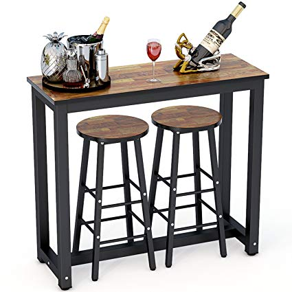 Amazon.com - Tribesigns 3-Piece Pub Table Set, Counter Height Dining