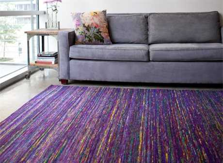 Feizy Rugs Arushi Rectangular Purple Area Rug | FZ0504FPURPLE