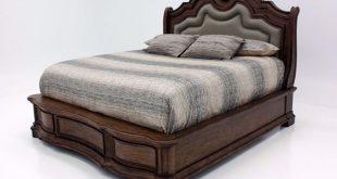 Tulsa Queen Size Bed - Light Brown | Home Furniture + Mattress