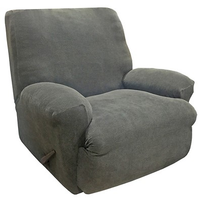 Stretch Oxford Recliner Slipcover Gray - Sure Fit : Target