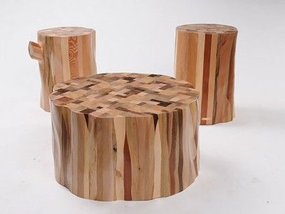 From Scrap To Stylish Stump: Recycled Timber Furniture By Ubico