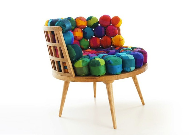 Gorgeous Recycled Silk Furniture from Turkey's Meb Rure | Green Prophet