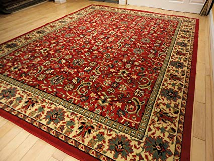 Amazon.com: Red Traditional Rugs Red 2x3 Persian Rug Red Area Rugs