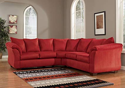 Amazon.com: Red Upholstery Fabric Sectional by Ashley Furniture