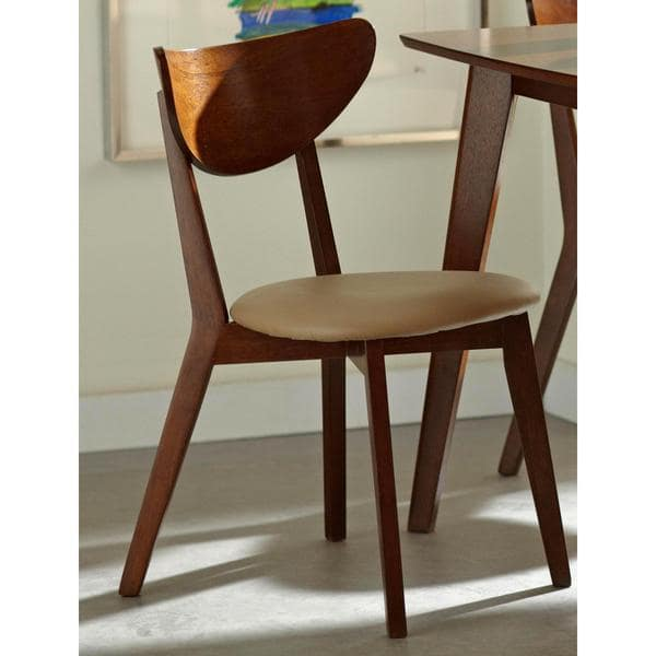 Shop Peony Retro Mid-century Style Chestnut Finished Dining Chairs