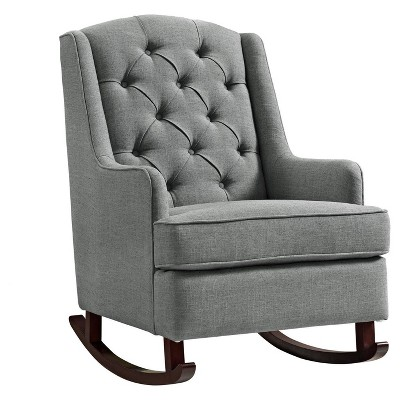 Baby Relax Zoe Tufted Rocking Chair- Gray : Target