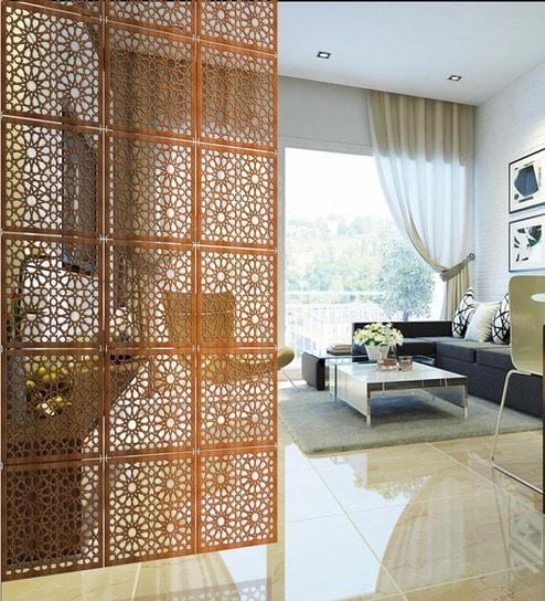 Buy Atlas Intricately Carved Modular (Set of 10 Blocks) Room Divider