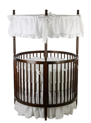 16 Beautiful Oval & Round Baby Cribs (FOR UNIQUE NURSERY DECOR)