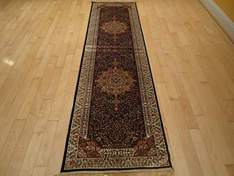 Amazon.com: Silk Rug Luxury Navy Rug Persian Rug Runner Rug for