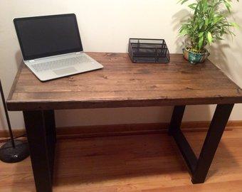 Rustic desk   Etsy