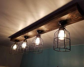 Rustic light fixture | Etsy