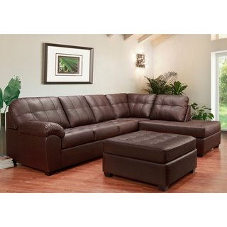 Buy Leather Sectional Sofas Online at Overstock | Our Best Living