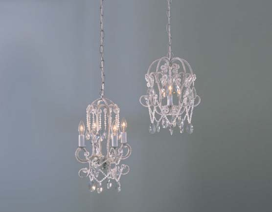 shabby chic chandeliers