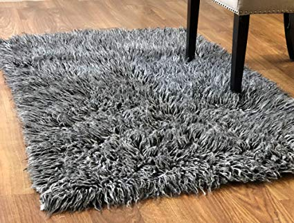 Amazon.com: Super Area Rugs-Cozy Collection-Flokati Wool Shag Rug