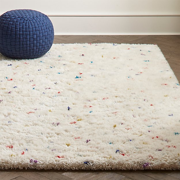 Sprinkles Multi-Color Shag Rug | Crate and Barrel