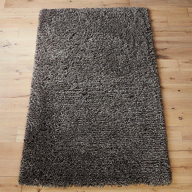 puli grey shag rug | CB2