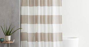 Amazon.com: AmazonBasics Shower Curtain with Hooks (Treated to