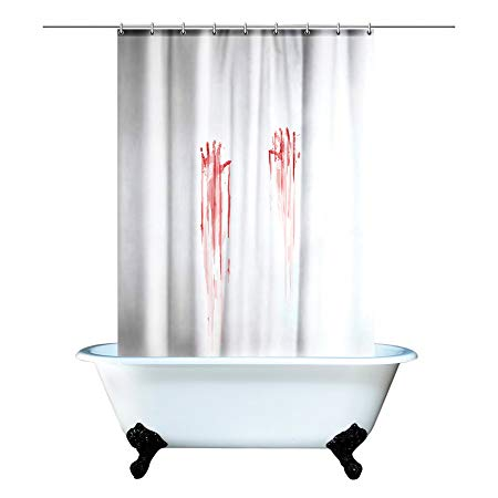 Amazon.com: Spinning Hat Blood Bath Shower Curtain: Home & Kitchen