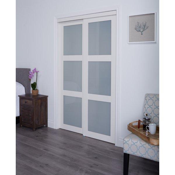 Erias Home Designs Track MDF Sliding Closet Door & Reviews | Wayfair