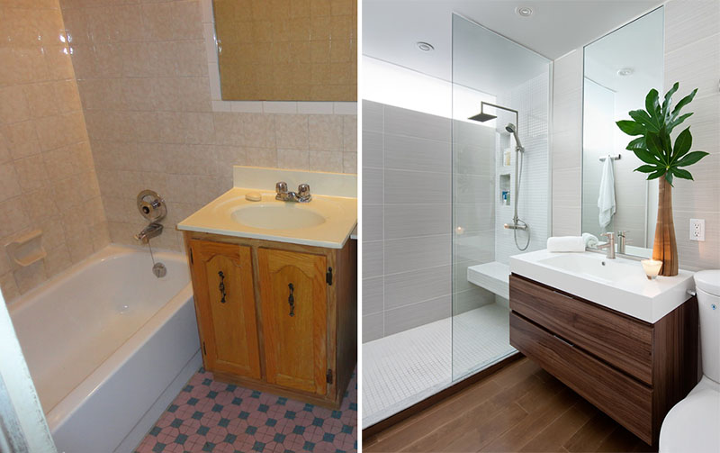 Before & After - A Small Bathroom Renovation By Paul K Stewart