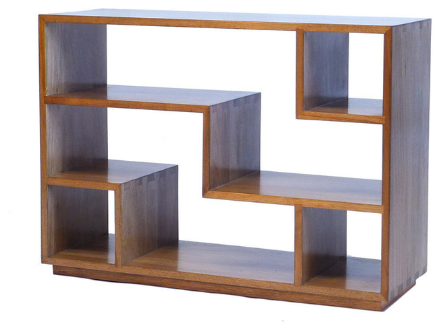 Tao Small Bookcase, Natural Walnut - Transitional - Bookcases - by