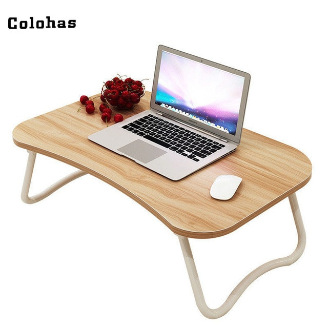 Multi purpose Small Laptop Table with Slot Simple Dormitory Lazy
