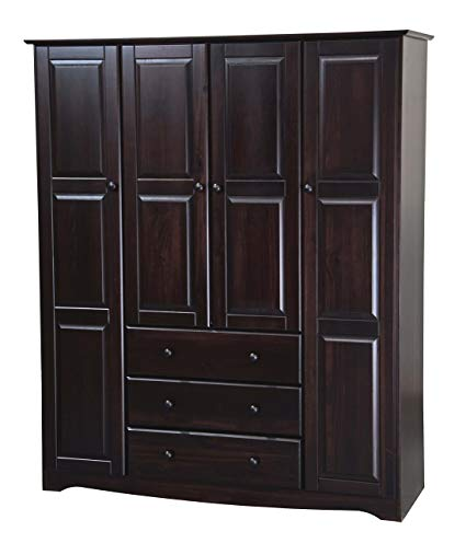 Amazon.com: New! 100% Solid Wood Family Wardrobe/Armoire/Closet 5966