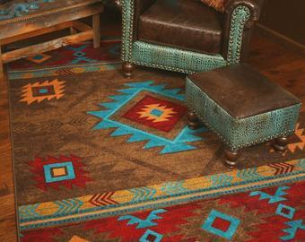 Southwestern rug | Etsy