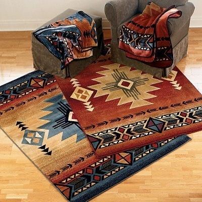 Delectably-yours.com Arizona Blue Southwestern Rug Collection by