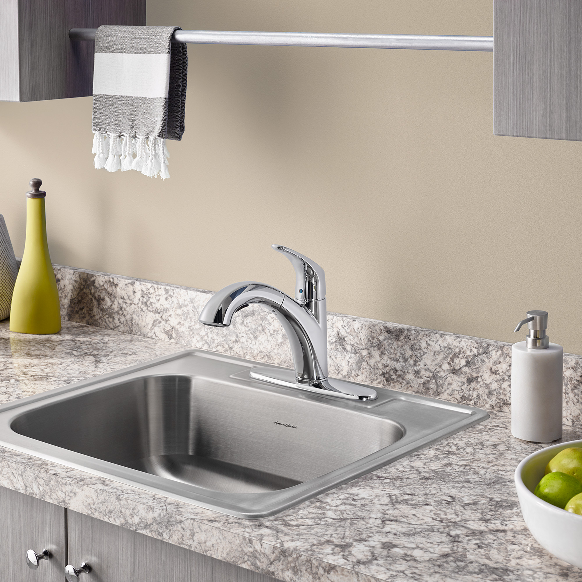 Colony 25x22-inch Stainless Steel Kitchen Sink | 4 Hole | American