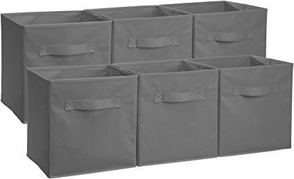Amazon.com: AmazonBasics Foldable Storage Cubes - 6-Pack, Grey: Home