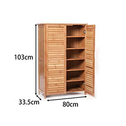 Amazon.com: GJFLife Bamboo Shoe Cabinet 2 Door, Large Versatile Shoe
