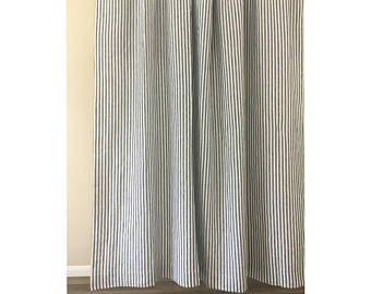 Striped curtain | Etsy