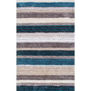 Blue & White Striped Rugs You'll Love | Wayfair
