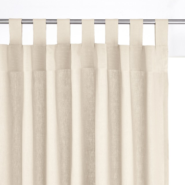 Tab Top Curtains for a Brighter Interior