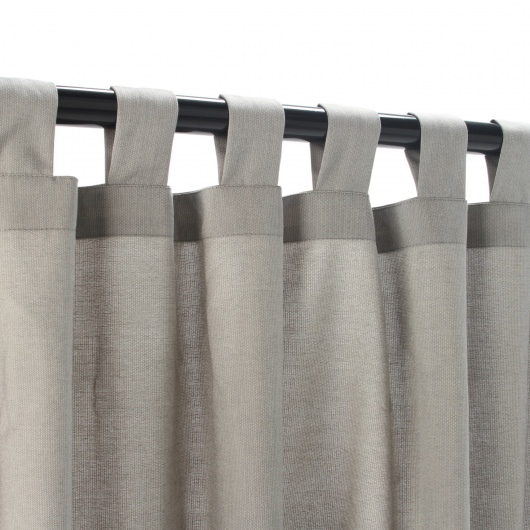 Sunbrella Spectrum Dove Outdoor Curtain with Tabs 50 in. x 84 in