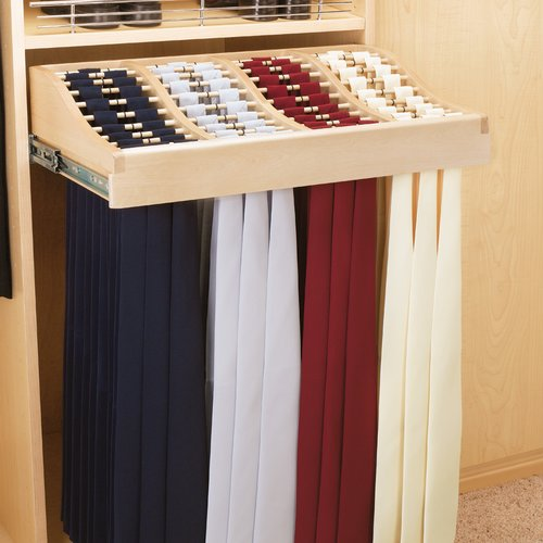 Rev-A-Shelf 24 inch Tie Rack-Wood CWTR-241041-2 | CabinetParts.com