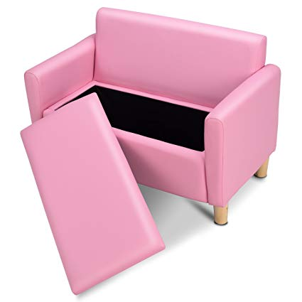 Amazon.com: Costzon Kids Sofa, Upholstered Armrest, Sturdy Wood
