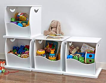 4 x Stacking Open Toy Storage Trunks: Amazon.co.uk: Kitchen & Home