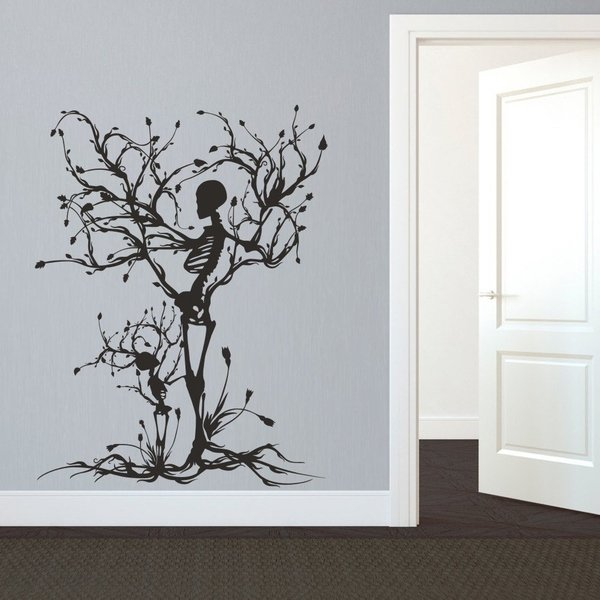 Shop Gothic Wall Decal Halloween Decor Skeleton Art Sticker Tree