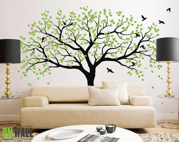Large Tree Wall Decals Trees Decal Nursery Tree Wall Decals | Etsy