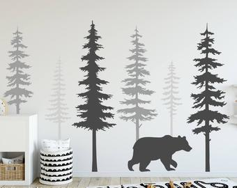Tree wall decal | Etsy