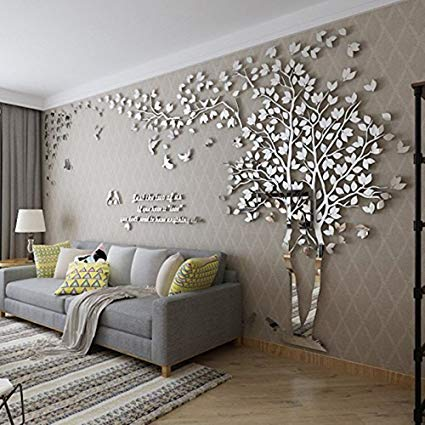 Amazon.com: DIY 3D Giant Couple Tree Wall Decals Wall Stickers