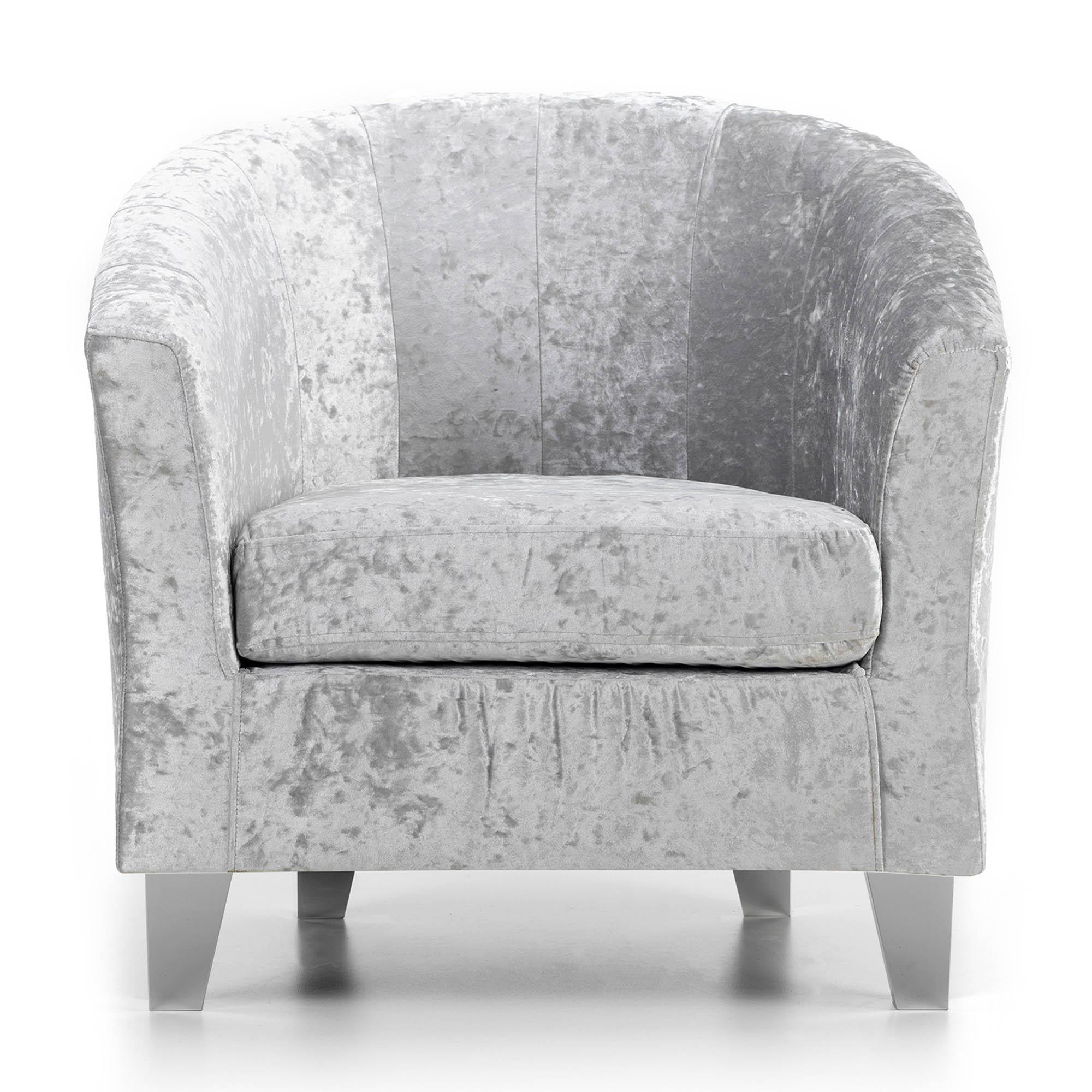Starlet Tub Chair - Silver | Dunelm