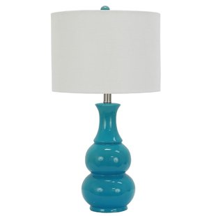 Turquoise Lamp Adds Cool Effects to Your   Bedroom