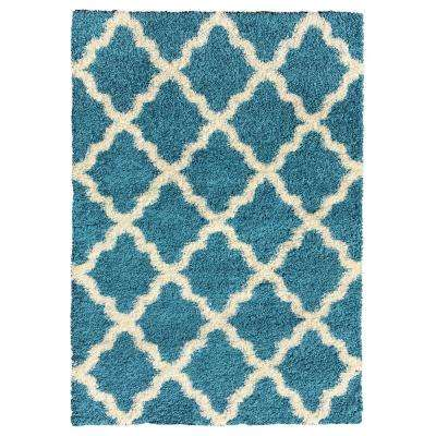 MAXY HOME - Turquoise - Area Rugs - Rugs - The Home Depot