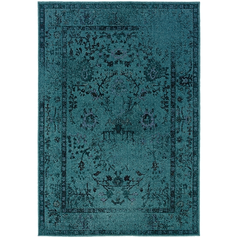 Turquoise Rug brings Cool Effects to Your   Room