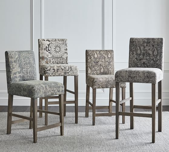 Oliver Upholstered Bar & Counter Stool | Pottery Barn