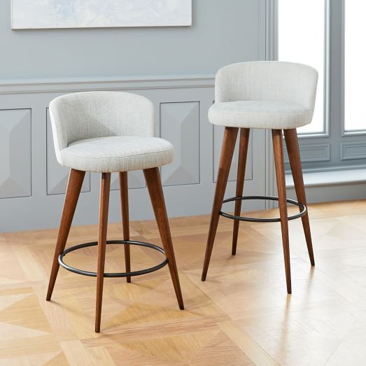 Abrazo Upholstered Bar + Counter Stools | west elm